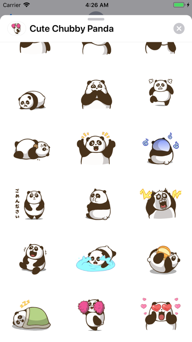 Cute Chubby Panda - Animated screenshot 3