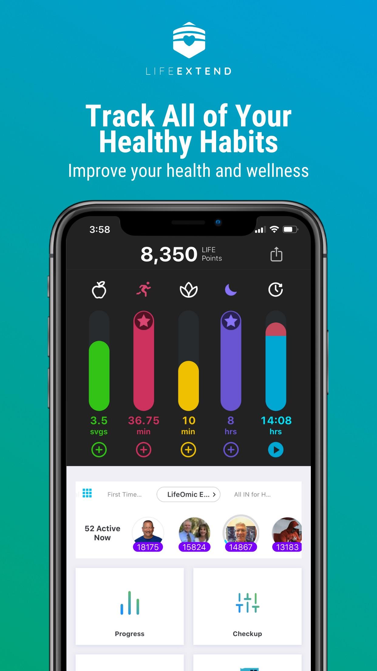 Healthy Living & Wellness App Screenshot