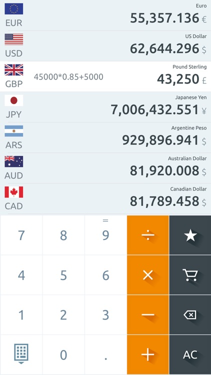 Currency converter, live rates screenshot-5