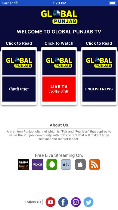 GlobalPunjabTV screenshot two