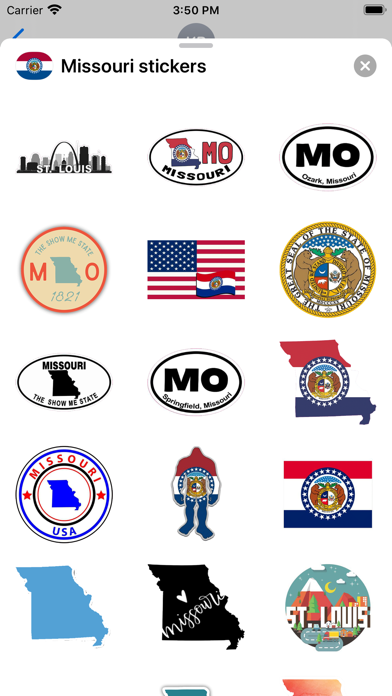 Missouri emoji - USA stickers screenshot 2