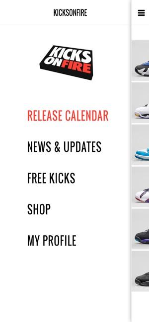 Shoe Release Calendar.Kicksonfire Shop Sneakers On The App Store