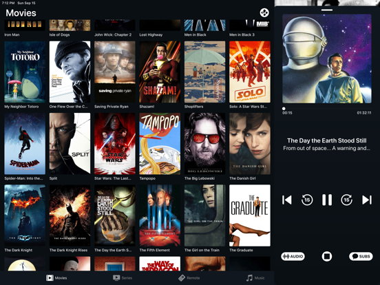 Mia - The Kodi Remote Screenshots