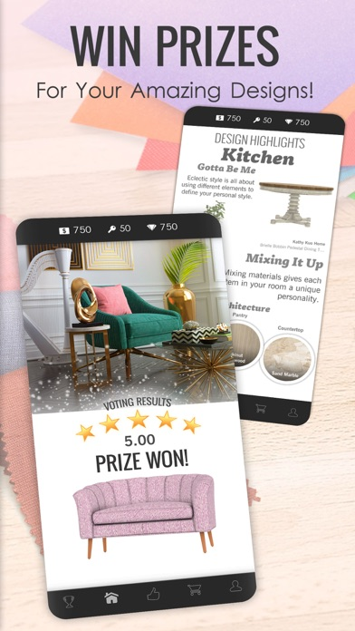 Screenshot of Design Home App