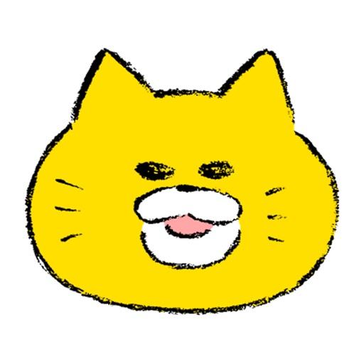 Fluorescent cat icon