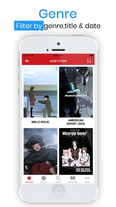 Manga Top & Manga Reader App Screenshots