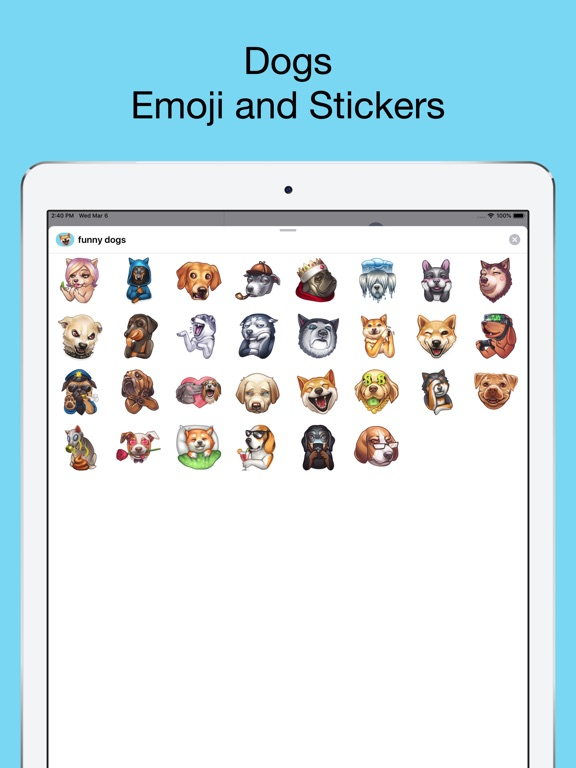Funny dogs - emoji stickers screenshot 6