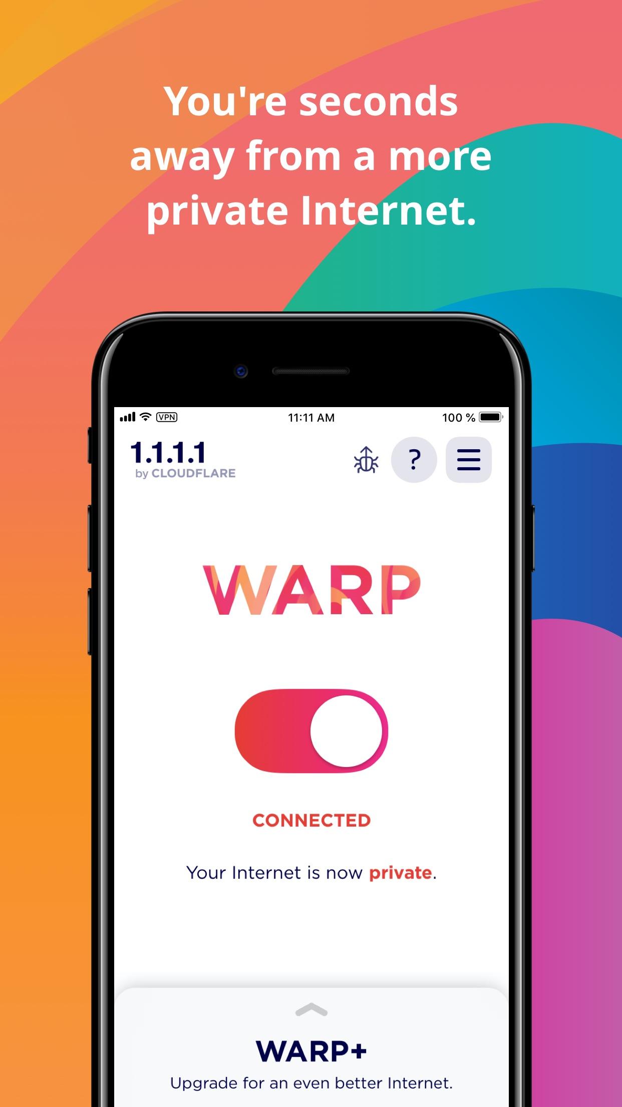 Screenshot do app 1.1.1.1: Faster Internet