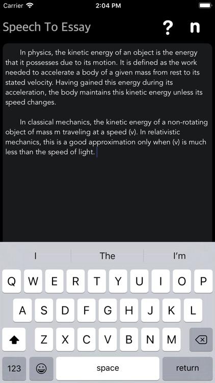 Speech To Essay screenshot-4