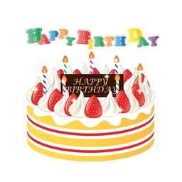 Birthday celebration sticker