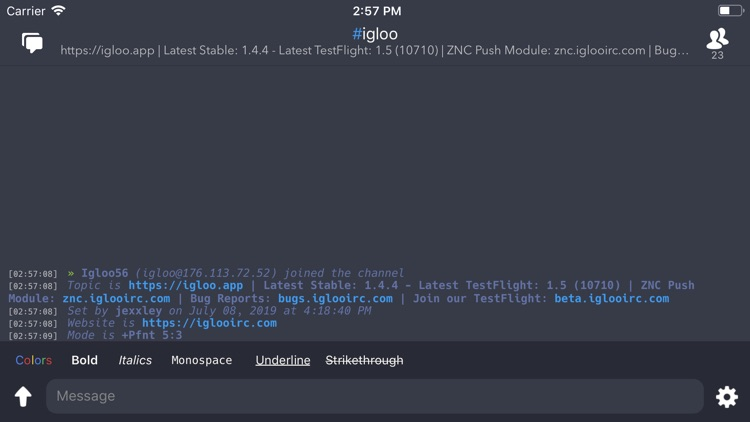Igloo IRC screenshot-6