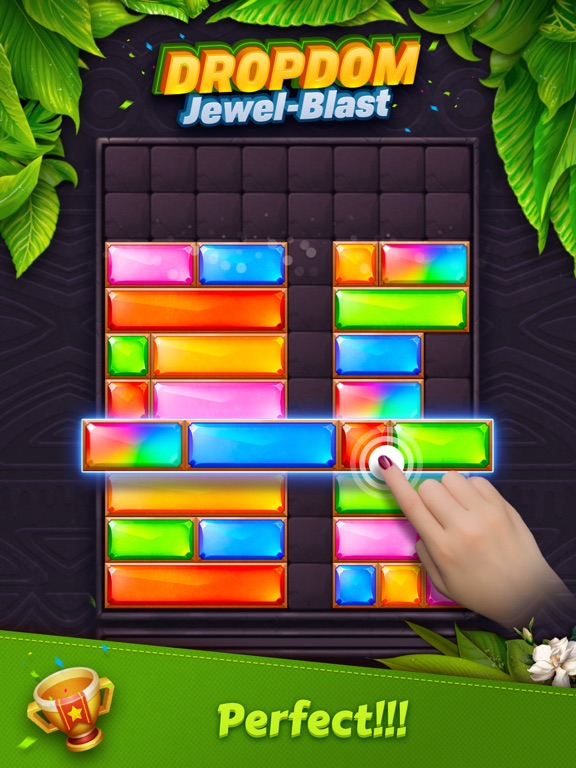 Dropdom™ Puzzle Block Jewel для iPad