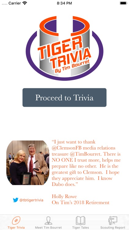 Tiger Trivia by Tim Bourret