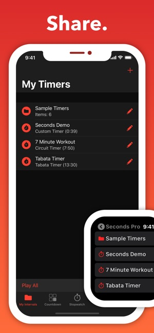 ‎Seconds Pro Interval Timer