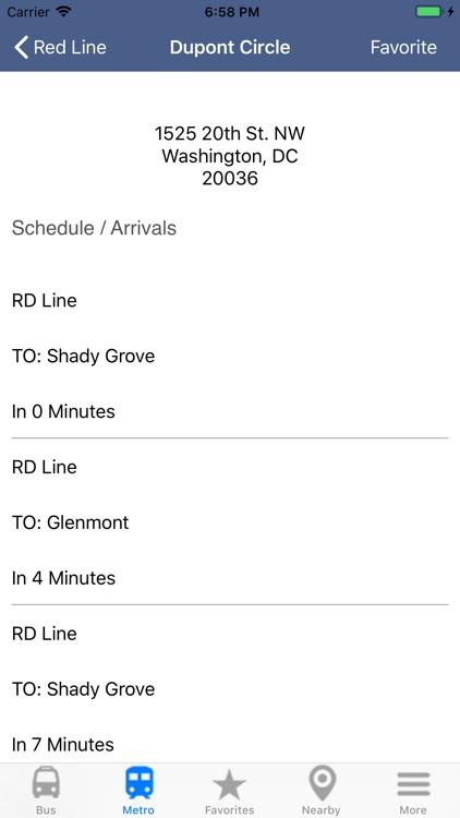 DC Metro & Bus: Navigator Map screenshot-7