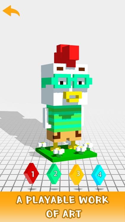 3D Color by Number - Pixel Art screenshot-3