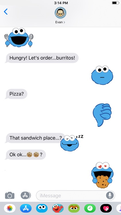 Cookie Monster Stickers screenshot-5