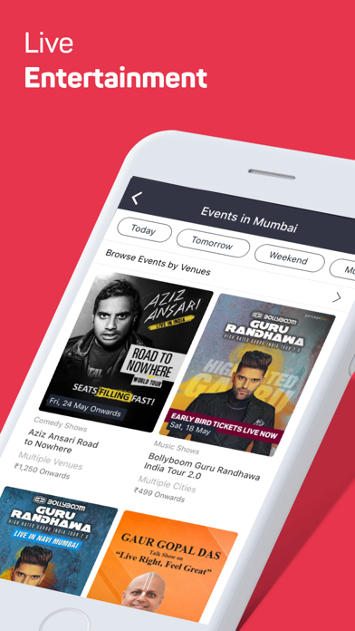 Screenshot for BookMyShow Entertainment in India App Store