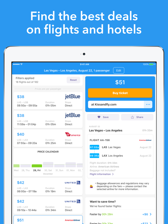 Cheap flights-Jetradar screenshot