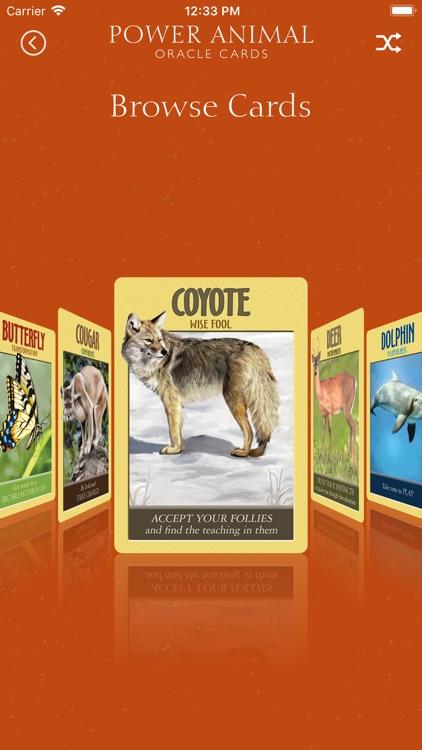 Power Animal Oracle Cards screenshot-3