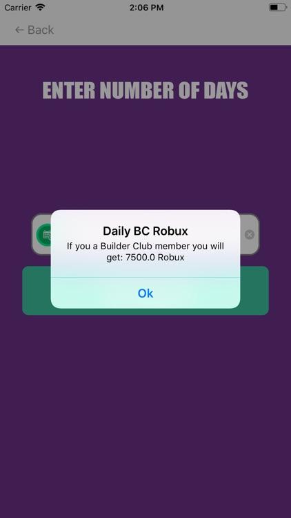 Daily Robux Calculator screenshot-3