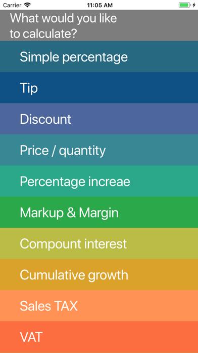 Percent, Percentage Calculator screenshot 1
