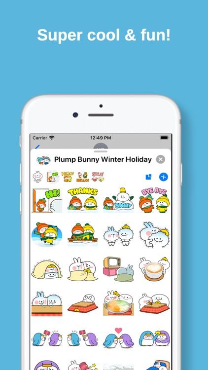Plump Bunny Winter Holiday