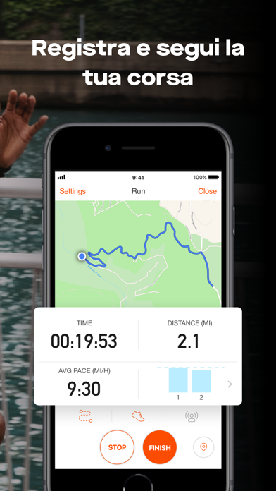 Screenshot for Strava GPS Correre Ciclismo in Italy App Store