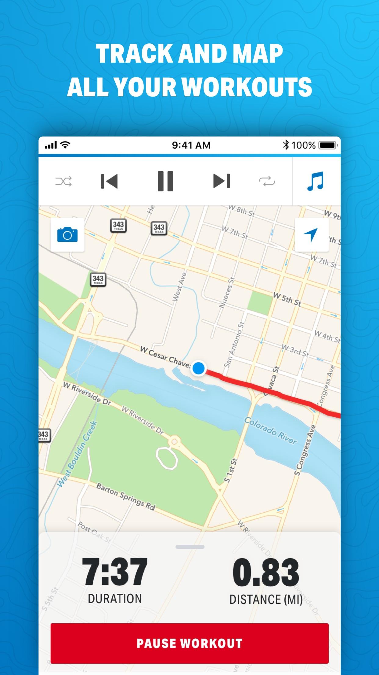 Map My Run by Under Armour Screenshot