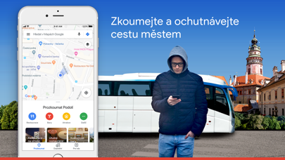 Screenshot for Mapy Google - Tranzit a jídlo in Czech Republic App Store