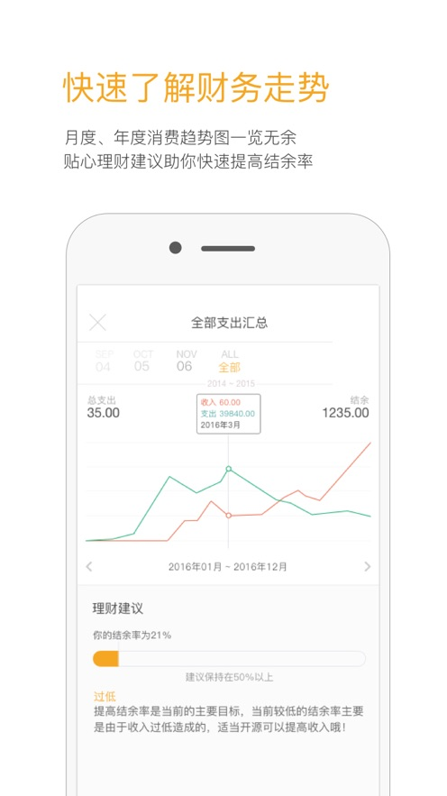 Timi时光记账 App 截图