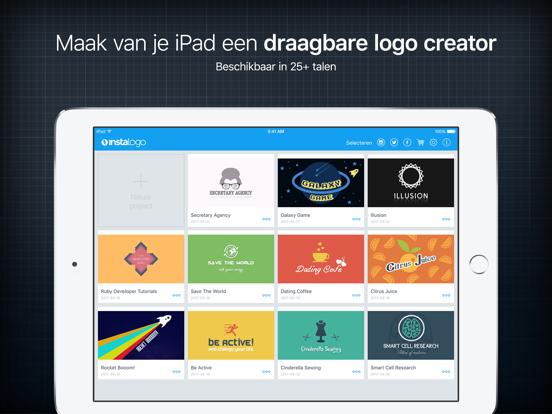 InstaLogo Logo Maker & Creator iPad app afbeelding 1