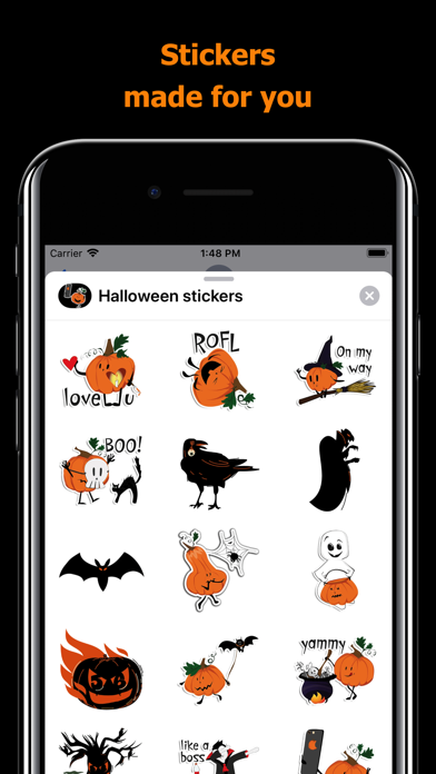 Halloween stickers - pumpkin screenshot 1