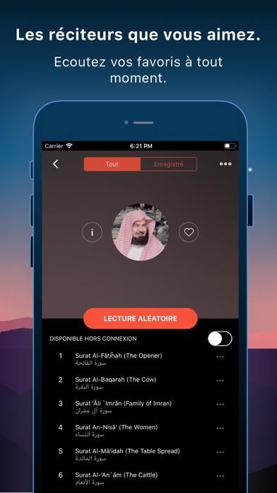 Screenshot for Coran Pro Muslim en Français in Lebanon App Store