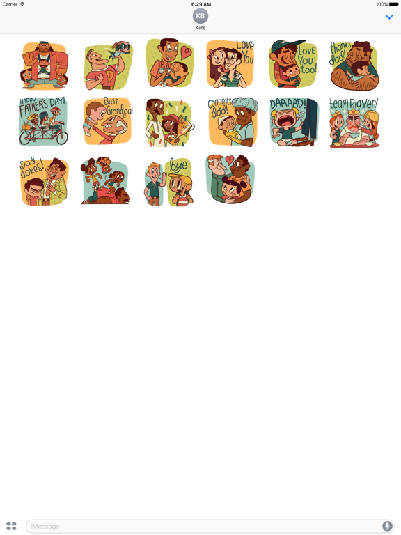 Happy Father Day Sticker Pack screenshot 3