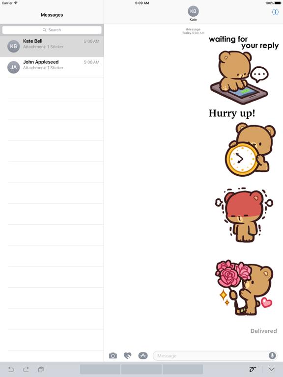 Cool Bear Mocha Daily Emoji screenshot 5