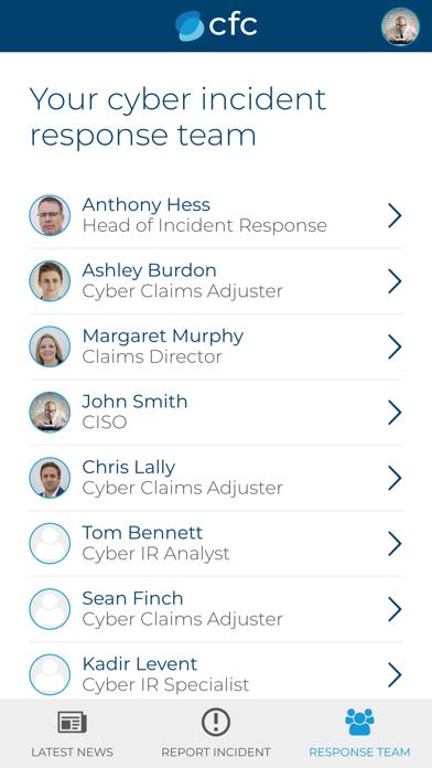 CFC Cyber Incident Response screenshot two