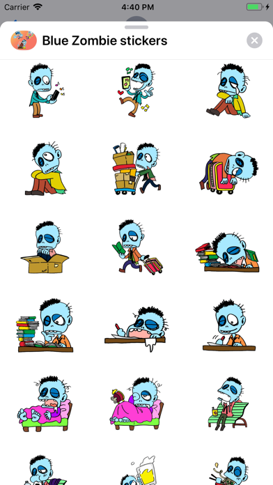 Blue Zombie Stickers - 窓用