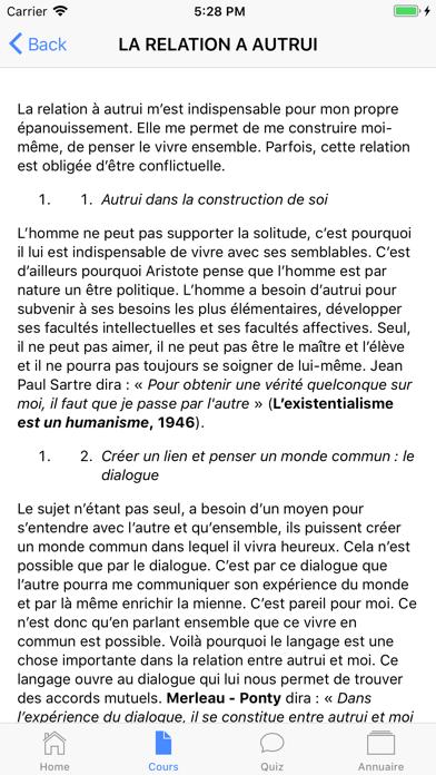 Cours de Philosophie screenshot 2