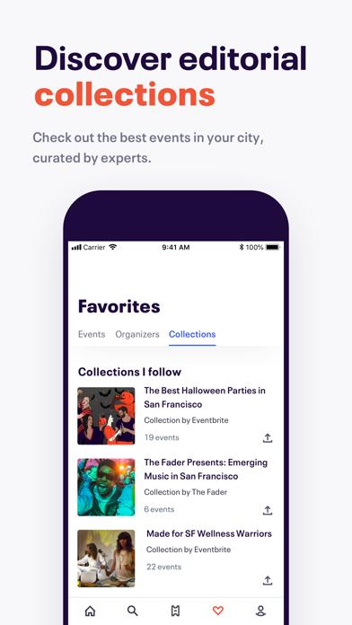 Eventbrite review screenshots
