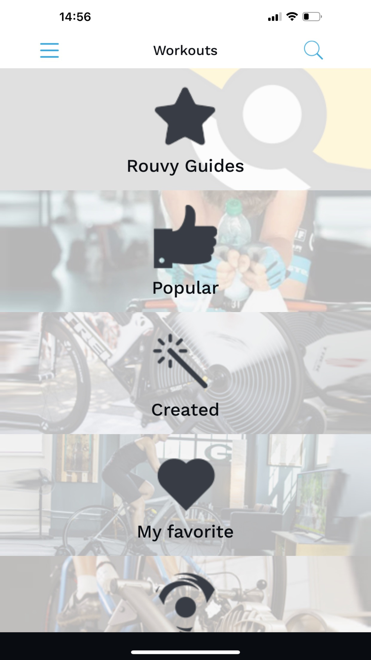 Rouvy Workouts Mobile Screenshot
