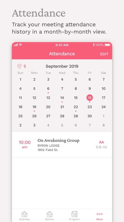 Pink Cloud:  AA Meeting Finder screenshot-5