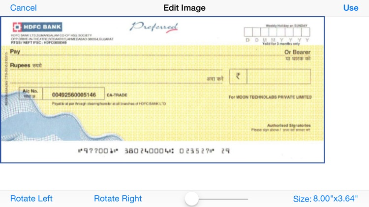 Print Cheque screenshot-1