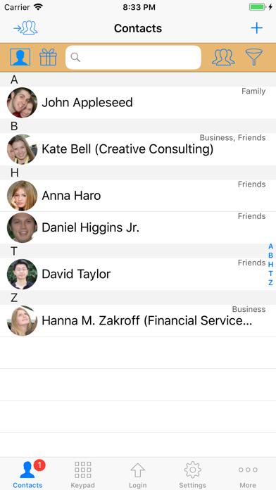 Screenshot #1 pour ContactsPro