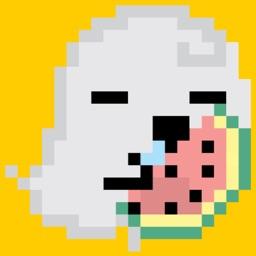 Kawaii Ghost Halloween Sticker