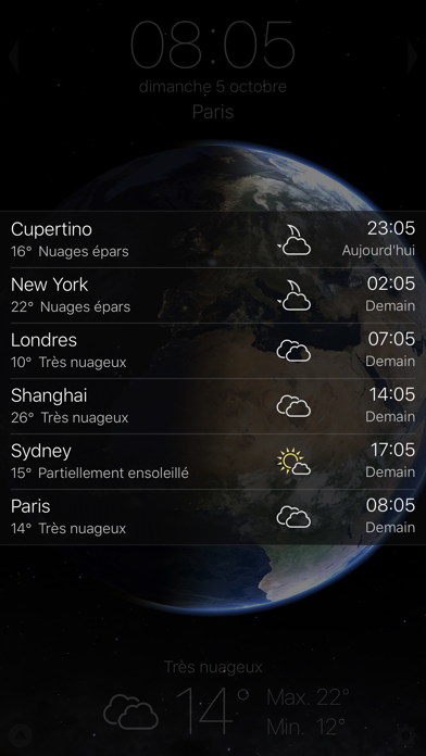 Screenshot for Living Earth - Clock & Weather in Lebanon App Store