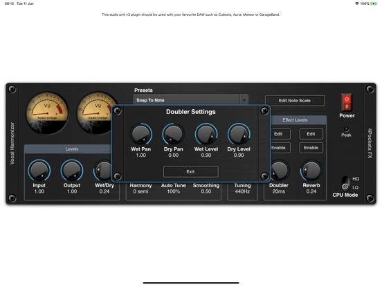 Vocal Harmonizer AUv3 Plugin screenshot 9