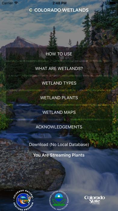 Colorado Wetlands Mobile App
