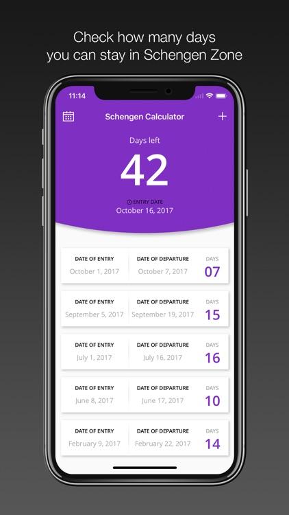Schengen Calculator 90/180