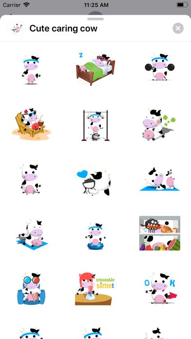 Cute caring cow screenshot 1